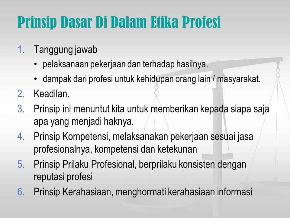 Prinsip Dasar Di Dalam Etika Profesi