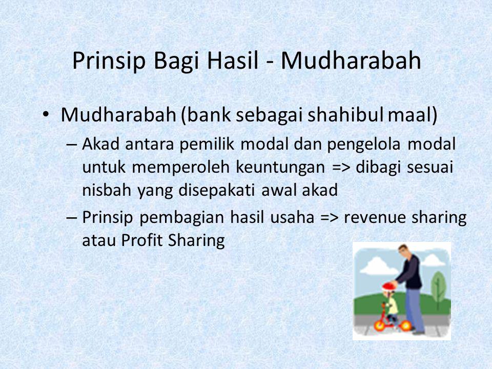 Prinsip Bagi Hasil - Mudharabah
