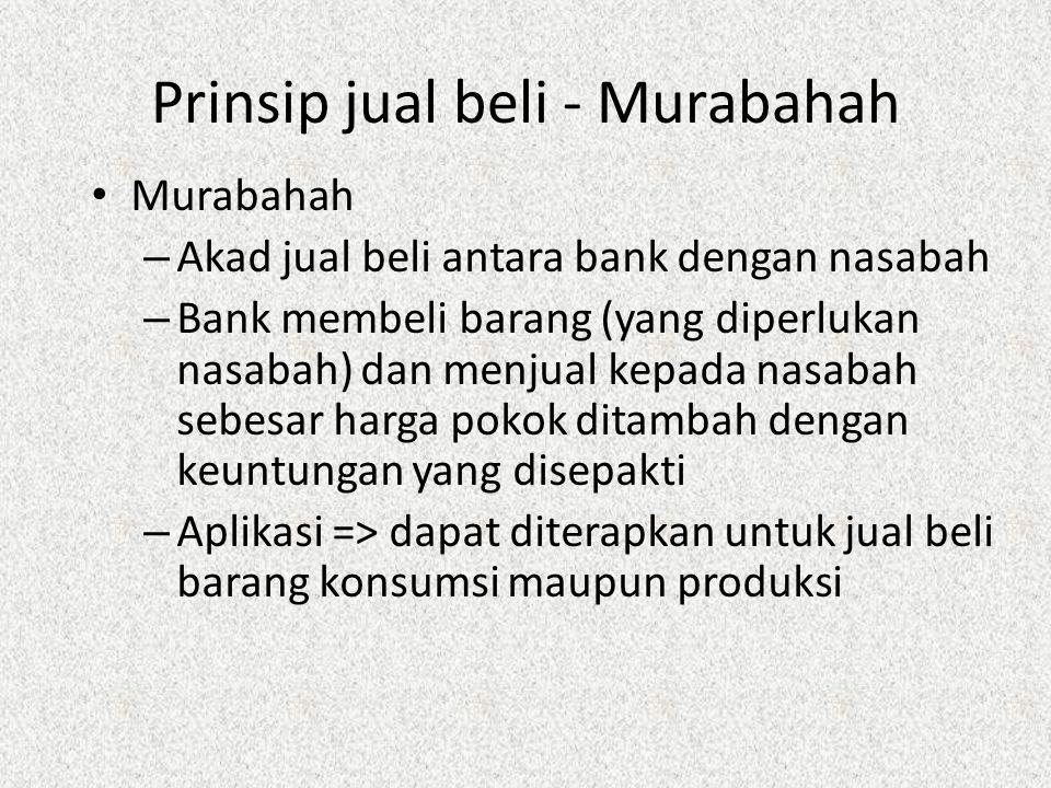 Prinsip jual beli - Murabahah