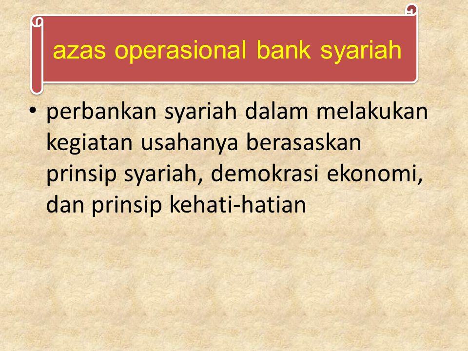 azas operasional bank syariah