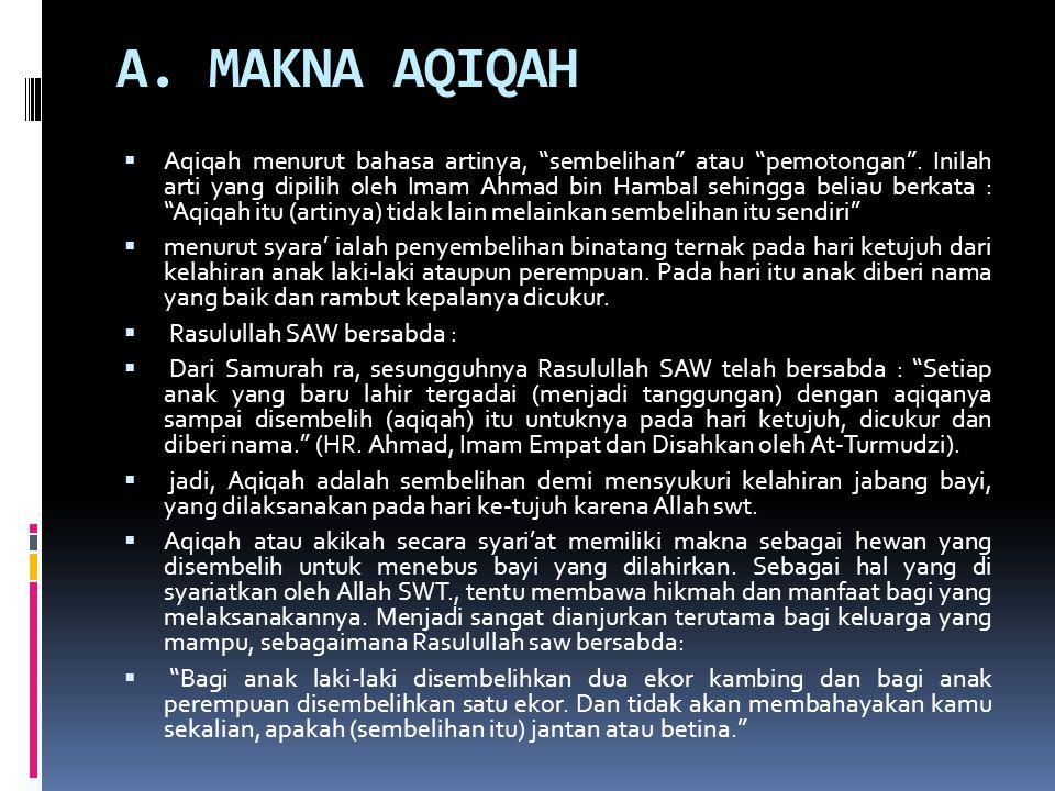 A. MAKNA AQIQAH