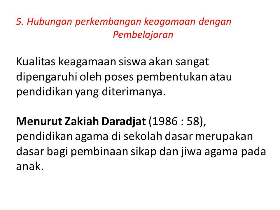 Menurut Zakiah Daradjat (1986 : 58),
