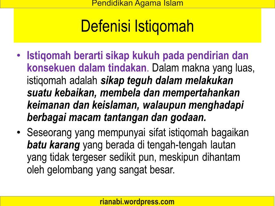 Defenisi Istiqomah