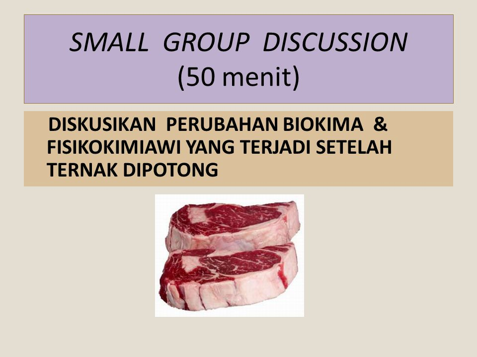 SMALL GROUP DISCUSSION (50 menit)