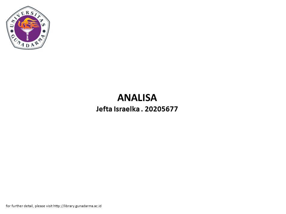 ANALISA Jefta Israelka . 20205677