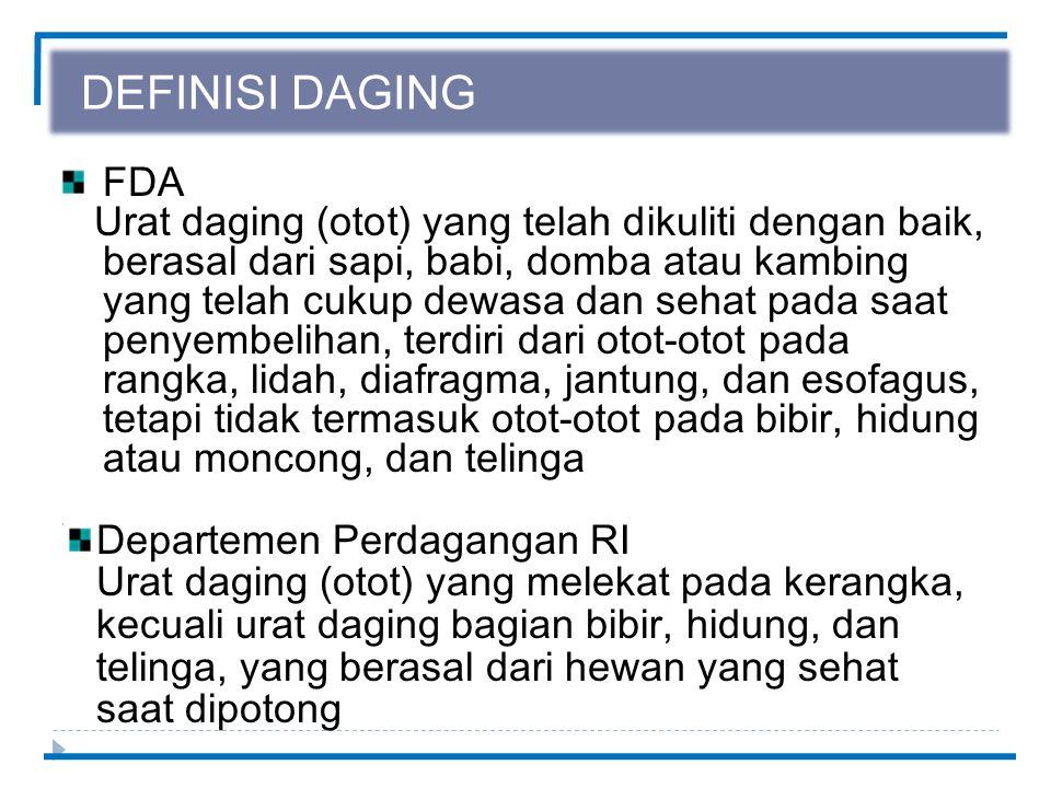 DEFINISI DAGING FDA.