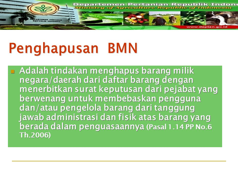 Penghapusan BMN