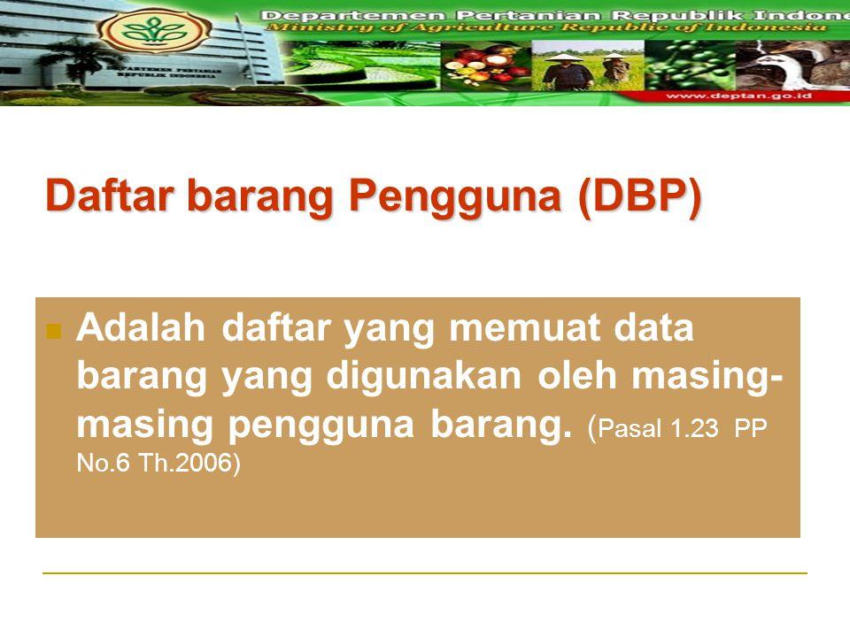 Daftar barang Pengguna (DBP)