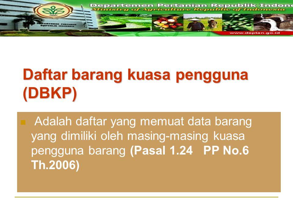 Daftar barang kuasa pengguna (DBKP)