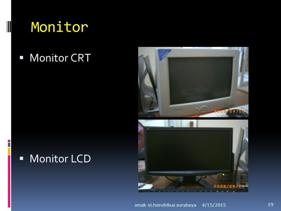 Monitor Monitor CRT Monitor LCD smak st.hendrikus surabaya 4/12/2017