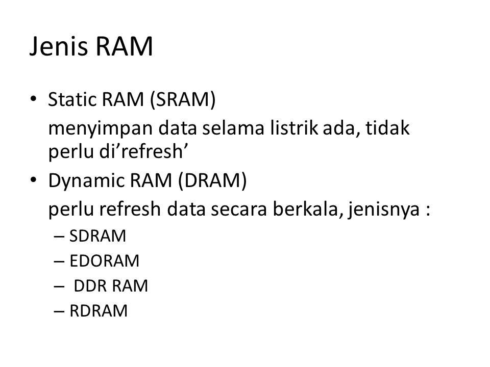 Jenis RAM Static RAM (SRAM)