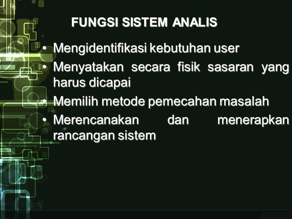Mengidentifikasi kebutuhan user