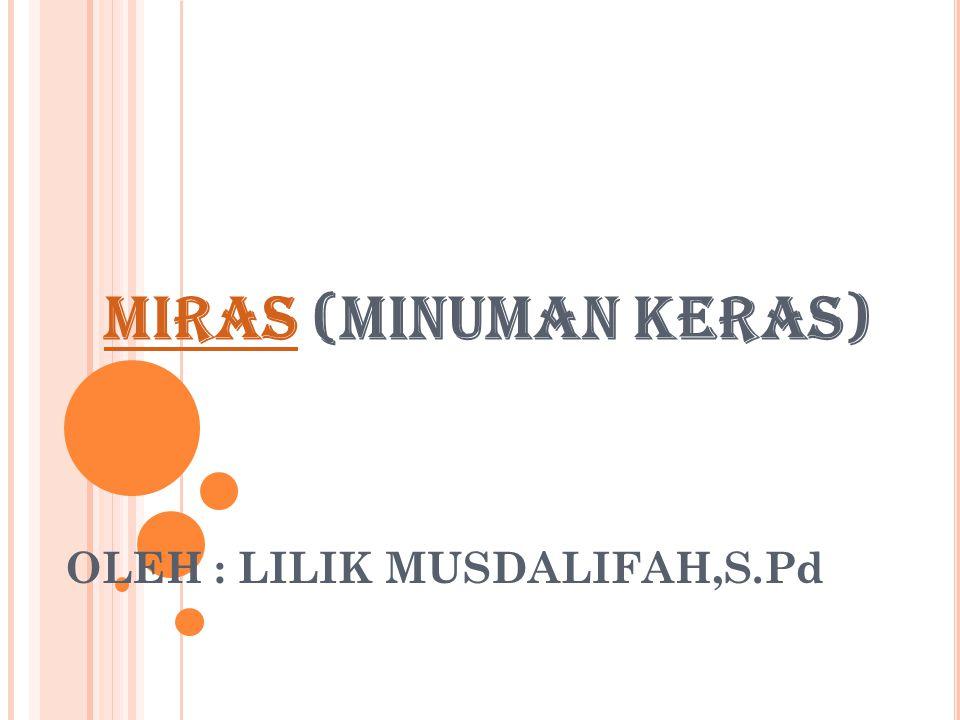 OLEH : LILIK MUSDALIFAH,S.Pd