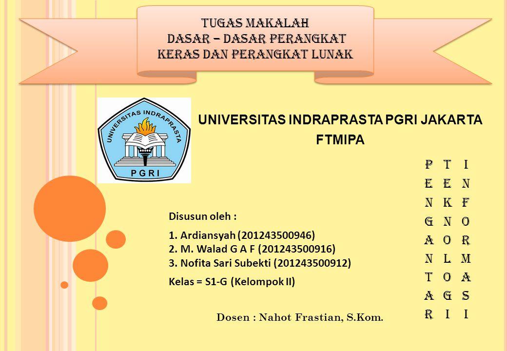 UNIVERSITAS INDRAPRASTA PGRI JAKARTA