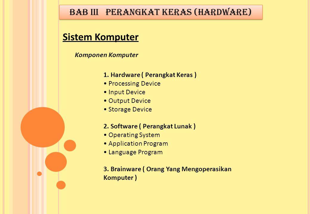 BAB III PERANGKAT KERAS (HARDWARE)