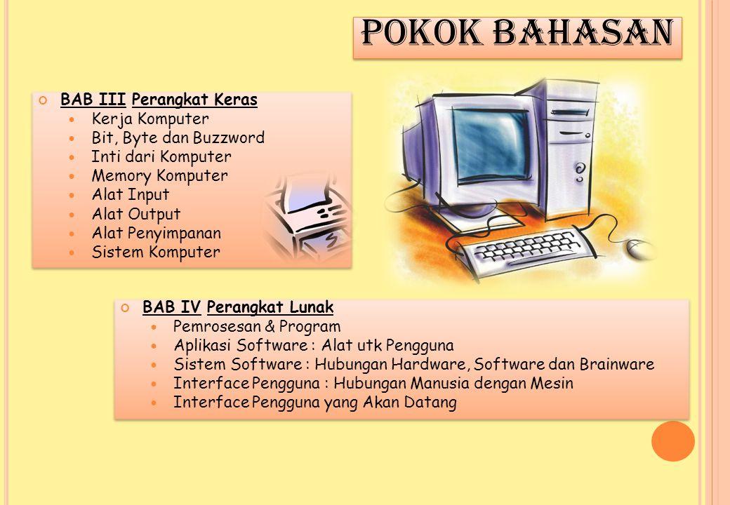 POKOK BAHASAN BAB III Perangkat Keras Kerja Komputer
