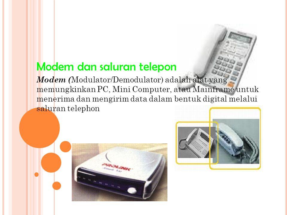 Modem dan saluran telepon