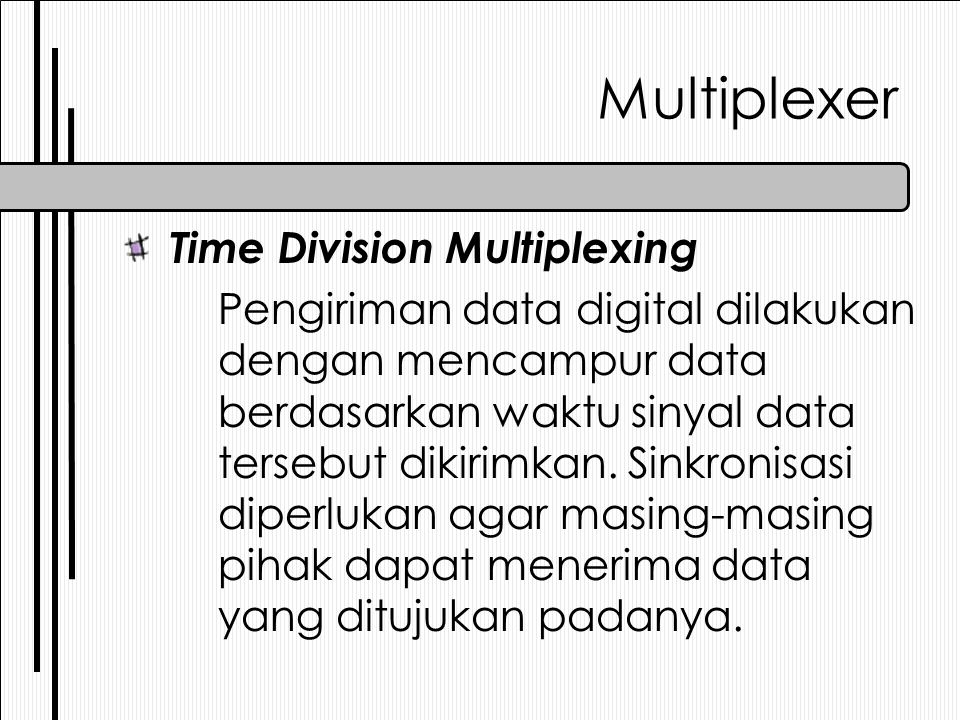 Multiplexer Time Division Multiplexing