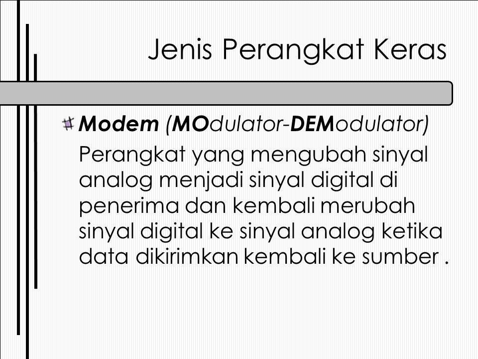 Jenis Perangkat Keras Modem (MOdulator-DEModulator)