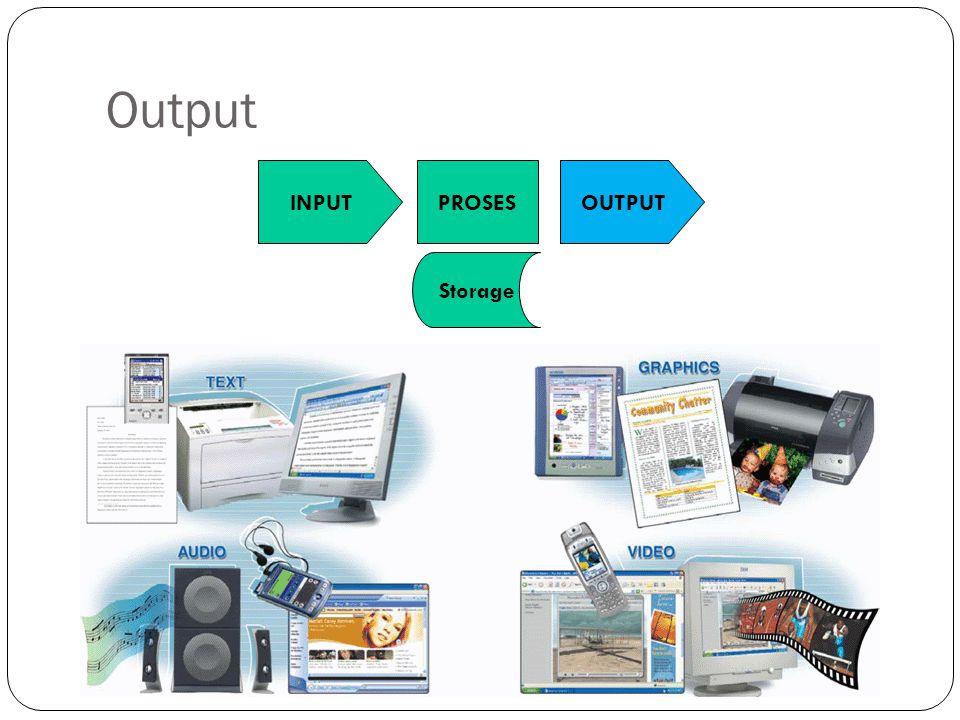 Output INPUT PROSES OUTPUT Storage