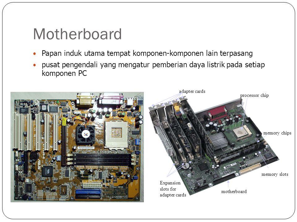 Motherboard Papan induk utama tempat komponen-komponen lain terpasang