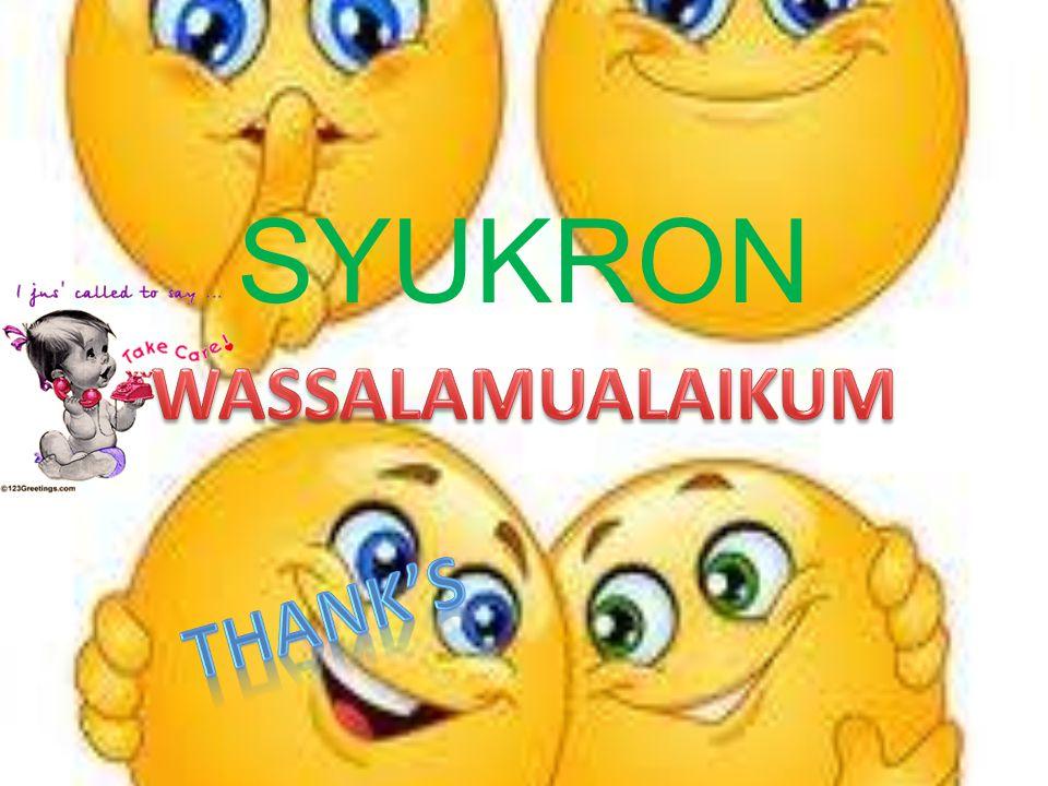 SYUKRON WASSALAMUALAIKUM Thank's