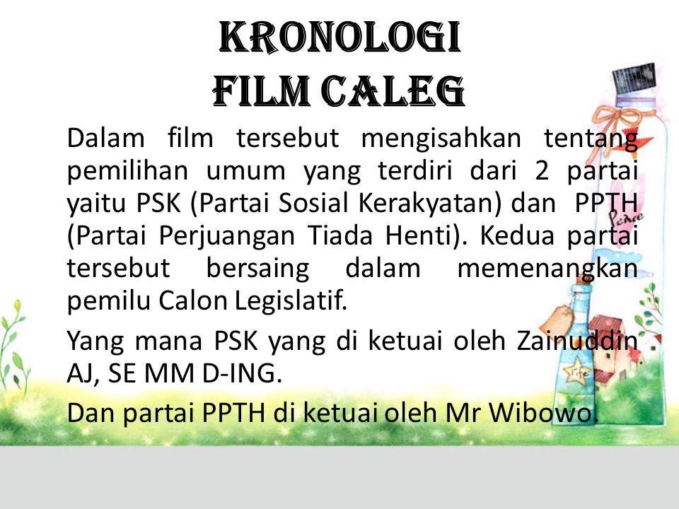 KRONOLOGI FILM CALEG