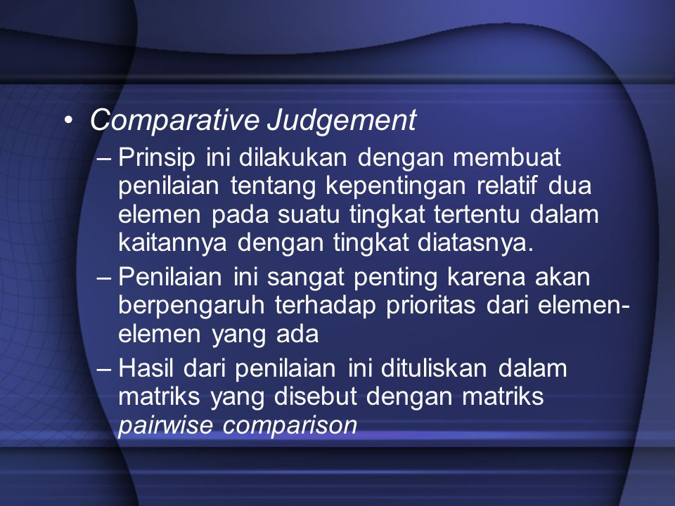 Comparative Judgement