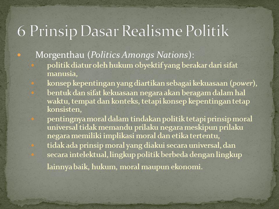 6 Prinsip Dasar Realisme Politik