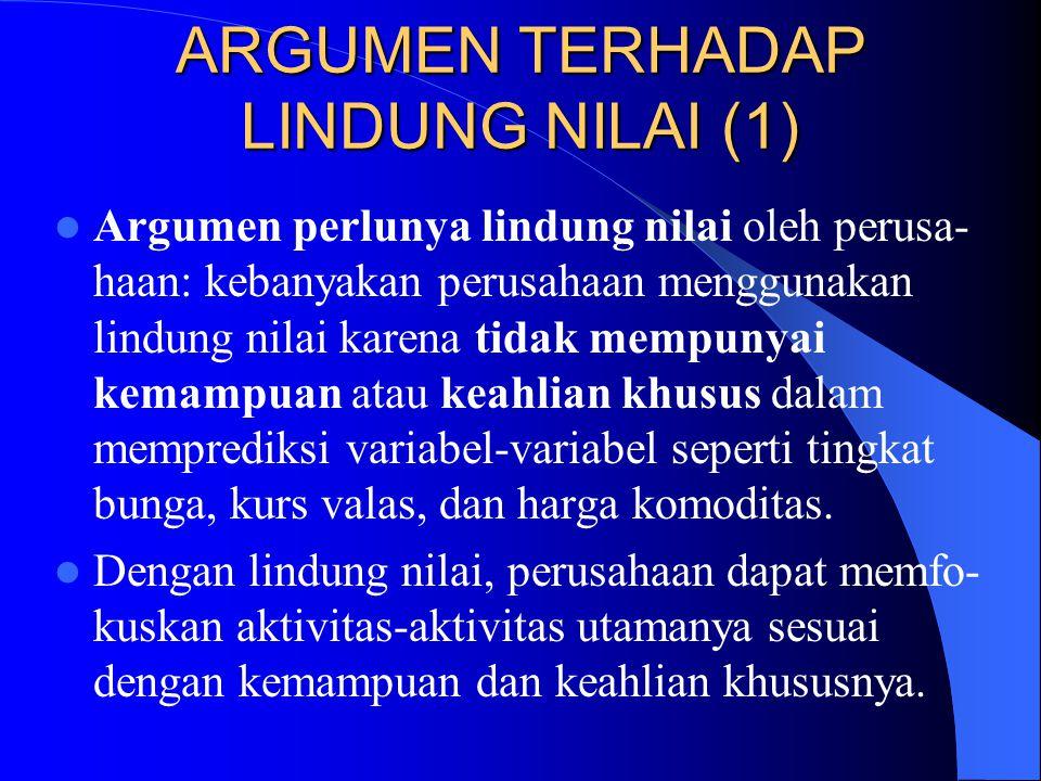 ARGUMEN TERHADAP LINDUNG NILAI (1)