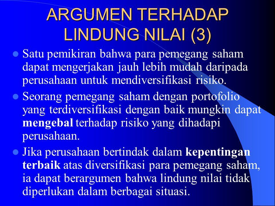 ARGUMEN TERHADAP LINDUNG NILAI (3)