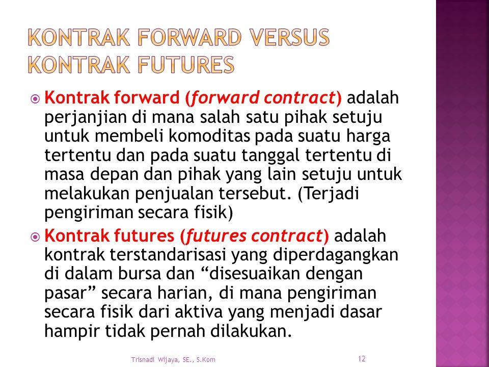 Kontrak Forward versus Kontrak Futures
