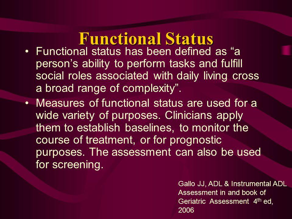 Functional Status