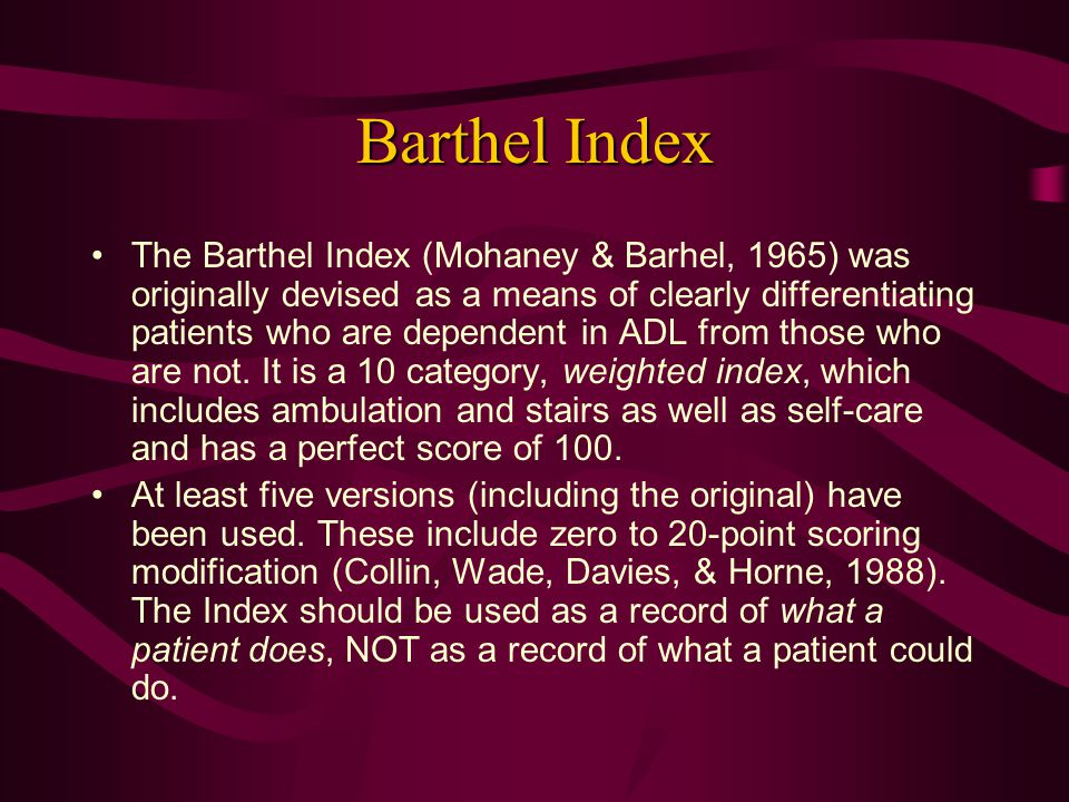 Barthel Index