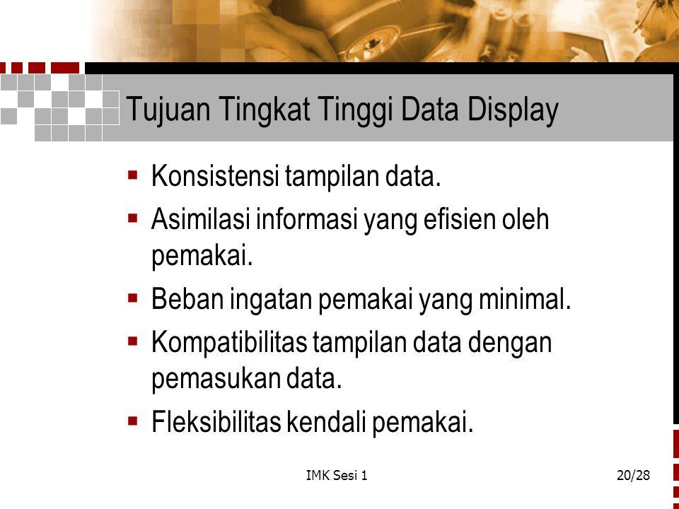Tujuan Tingkat Tinggi Data Display