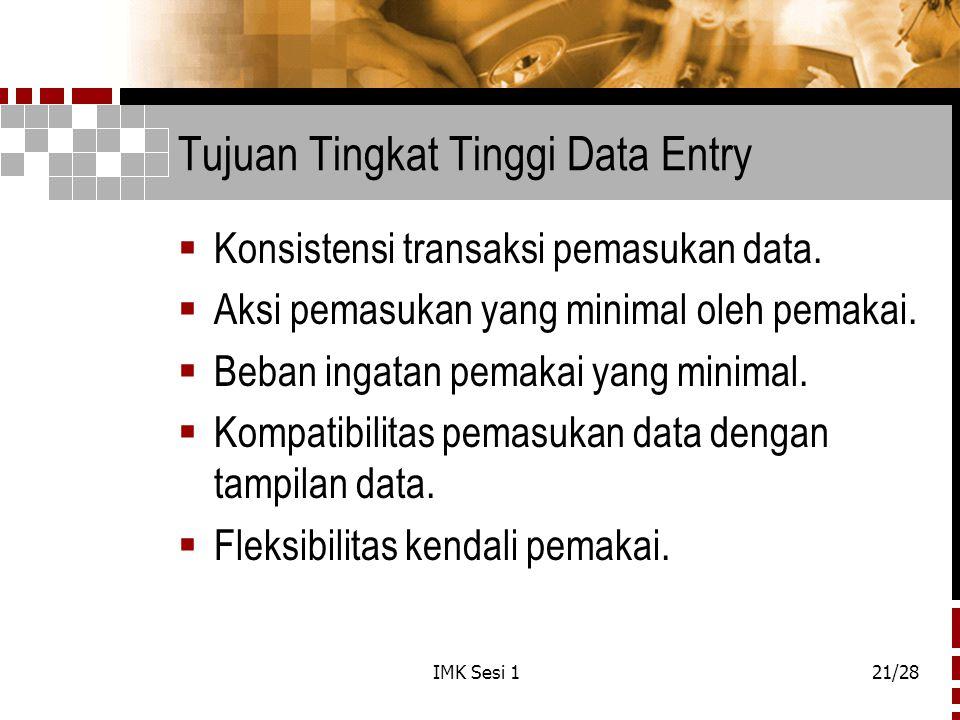 Tujuan Tingkat Tinggi Data Entry