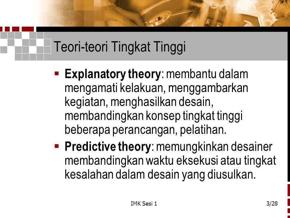 Teori-teori Tingkat Tinggi