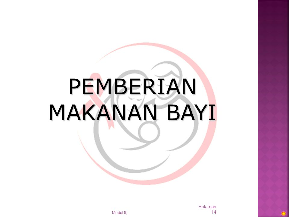 PEMBERIAN MAKANAN BAYI