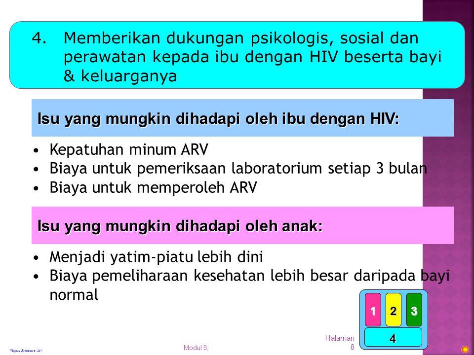 Isu yang mungkin dihadapi oleh ibu dengan HIV: