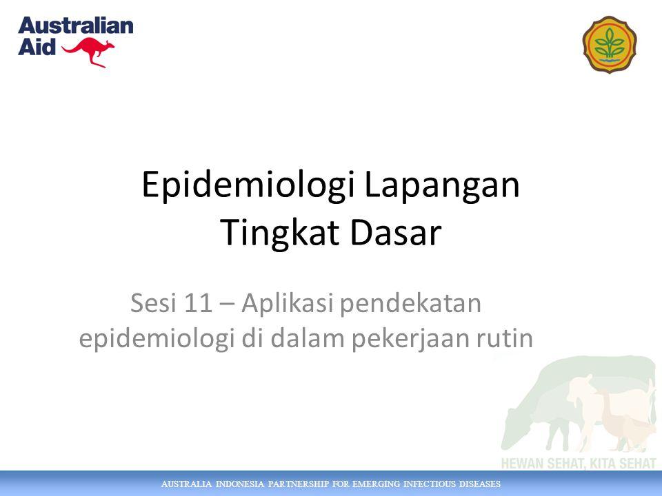 Epidemiologi Lapangan Tingkat Dasar