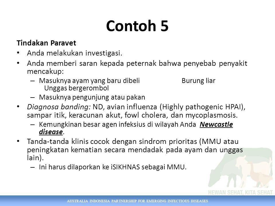 Contoh 5 Tindakan Paravet Anda melakukan investigasi.