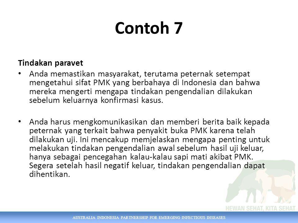 Contoh 7 Tindakan paravet