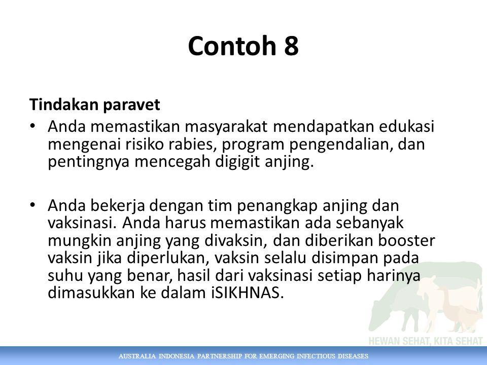 Contoh 8 Tindakan paravet