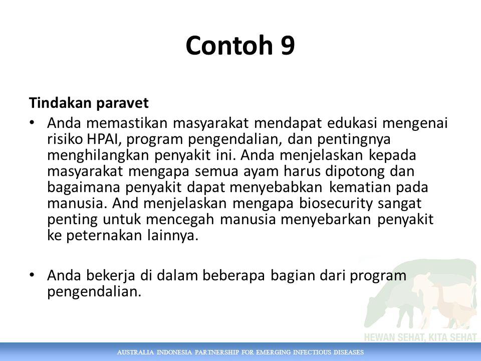 Contoh 9 Tindakan paravet