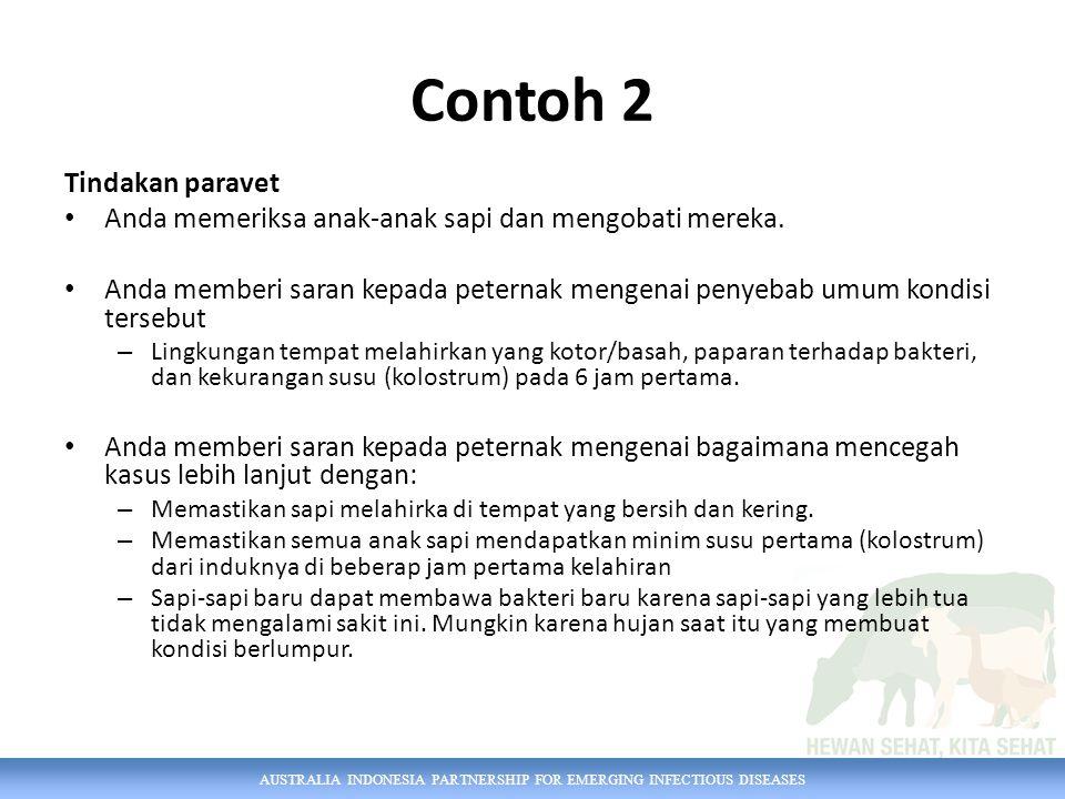 Contoh 2 Tindakan paravet