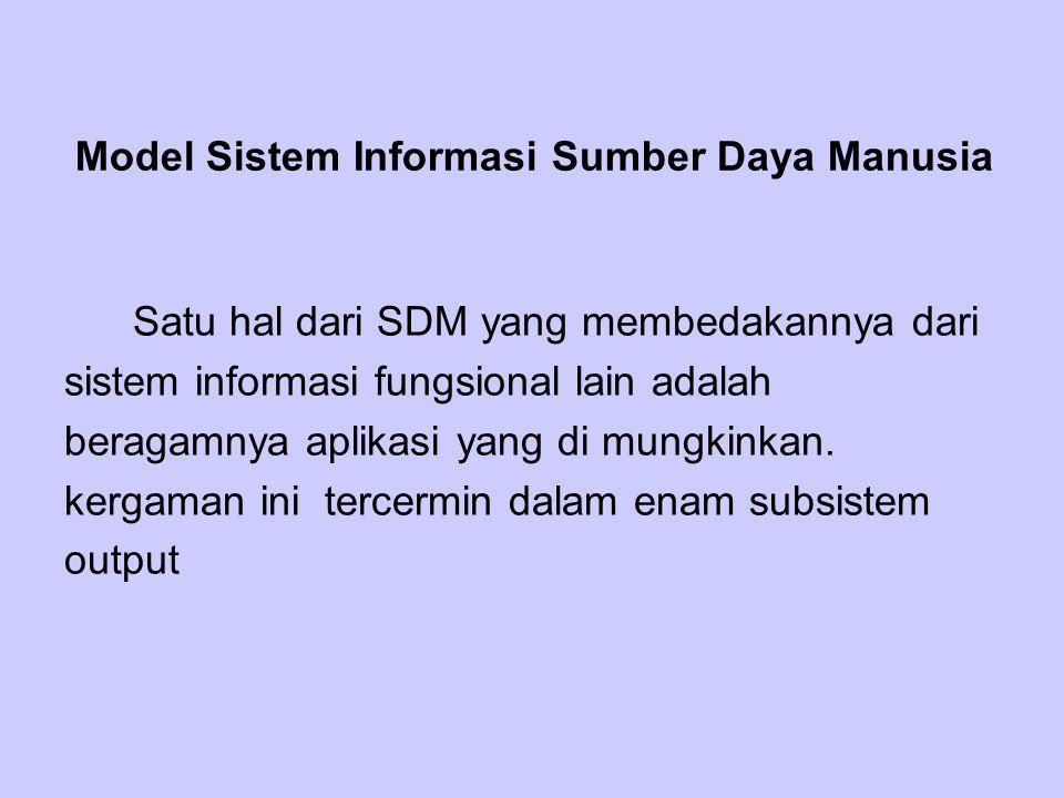 Model Sistem Informasi Sumber Daya Manusia
