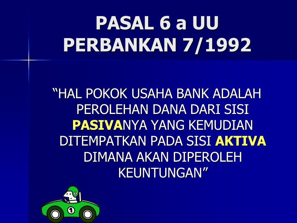 PASAL 6 a UU PERBANKAN 7/1992