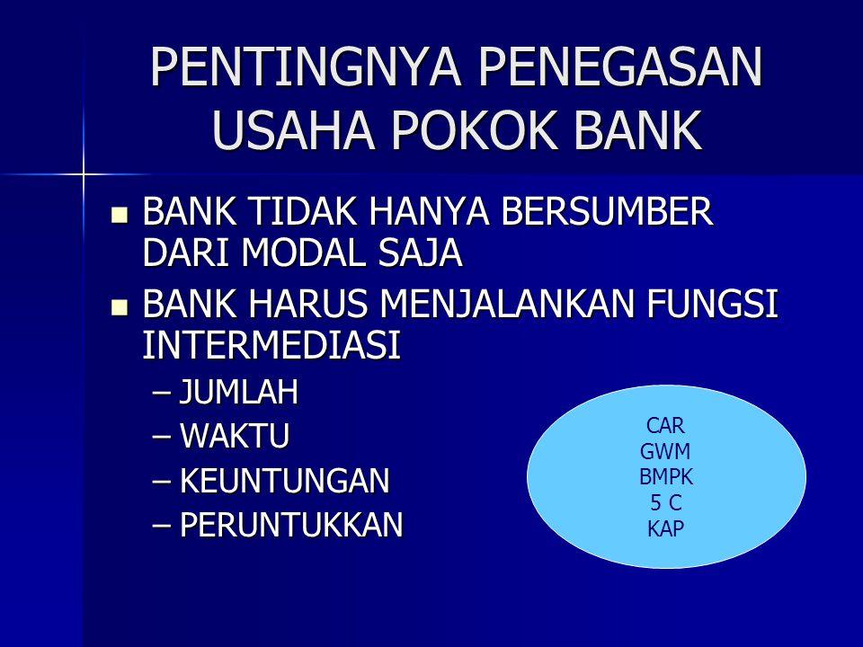 PENTINGNYA PENEGASAN USAHA POKOK BANK