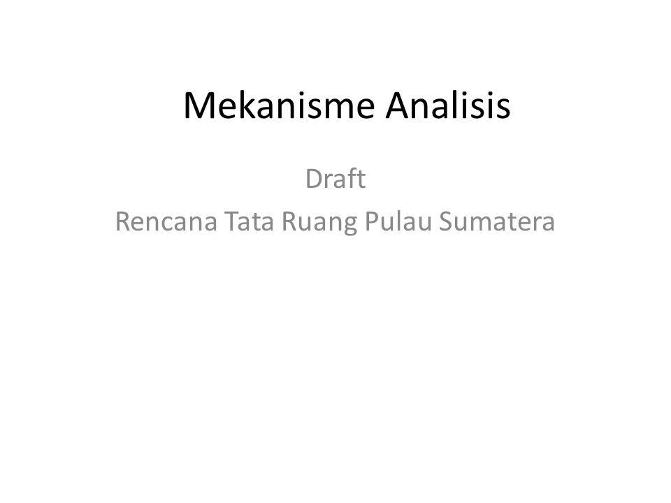 Draft Rencana Tata Ruang Pulau Sumatera