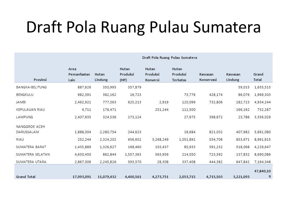Draft Pola Ruang Pulau Sumatera